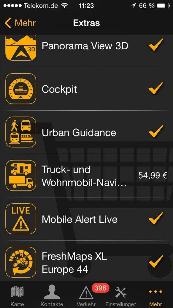 Navigations-App Navi Navigon Tom Tom Angebot 2