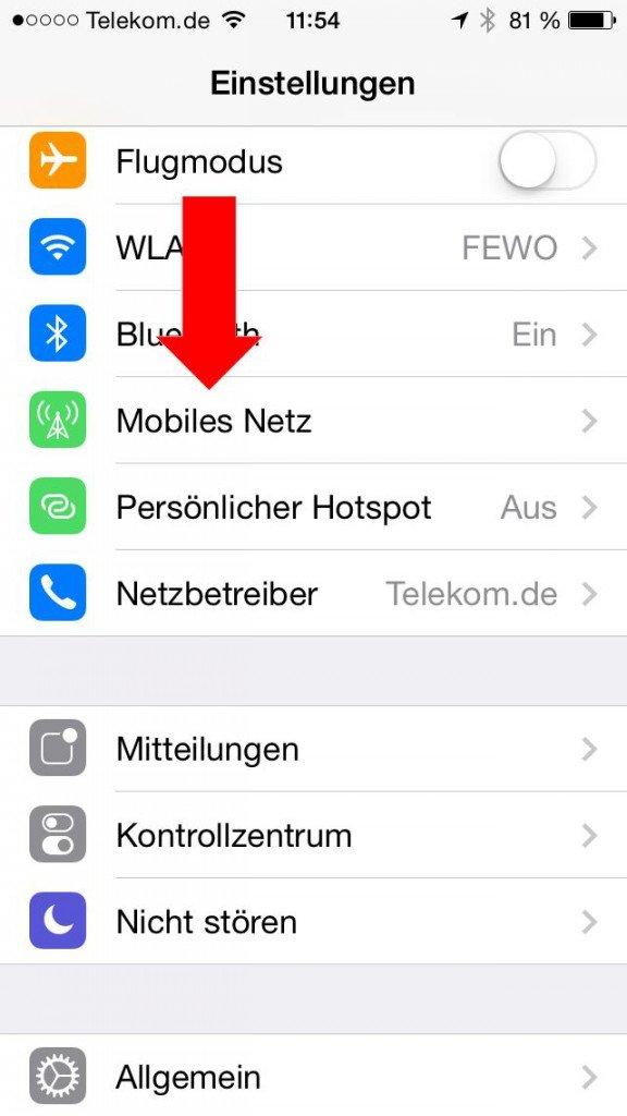 iPhone iPad Akku Strom sparen LTE ausschalten 1