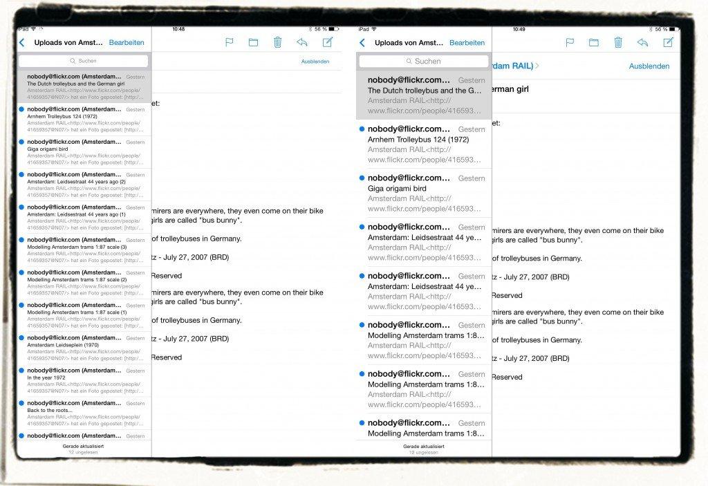 iPad Display Schriftgröße Schrift größer kleiner vergrößern verkleinern dynamischer Text Lesegröße 1