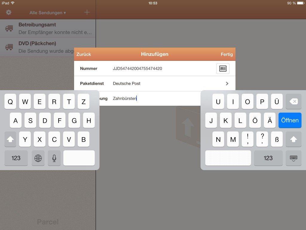 iPad Tastatur teilen andocken schreiben 10 Finger 2