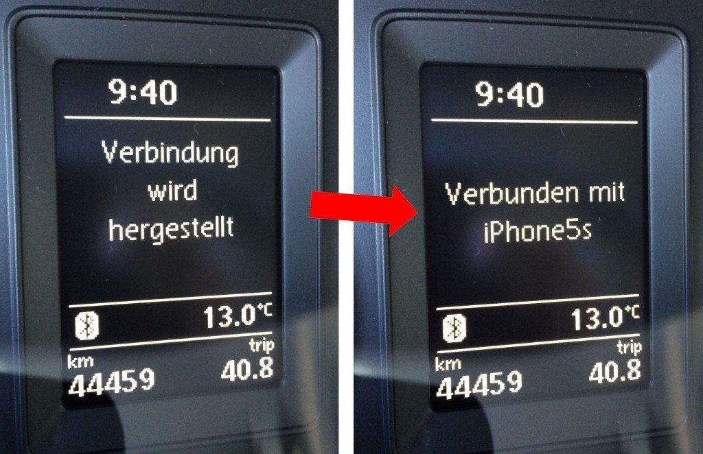 iPhone Autoradio Bluetooth koppeln Verbindung hergestellt 3