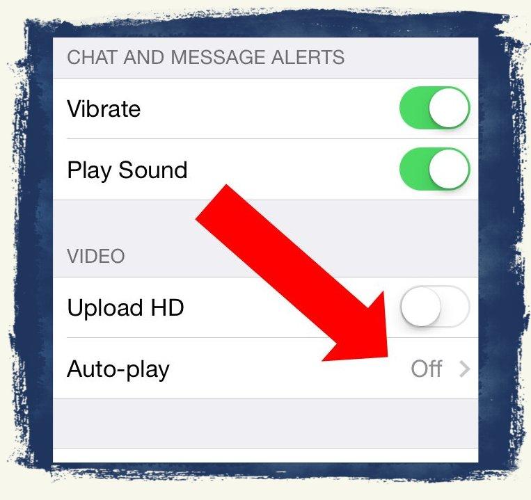 iPhone Facebook App Video Auto-play Autoplay WLAN GSM Verbrauch ausschalten 2