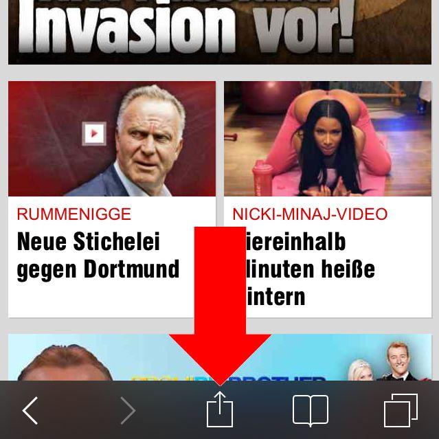 iPhone Homescreen Lesezeichen Startseite Safari anlegen 1