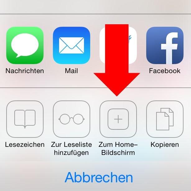 iPhone Homescreen Lesezeichen Startseite Safari anlegen 2