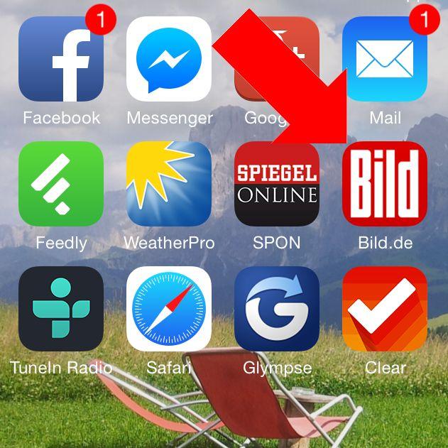 iPhone Homescreen Lesezeichen Startseite Safari anlegen 3