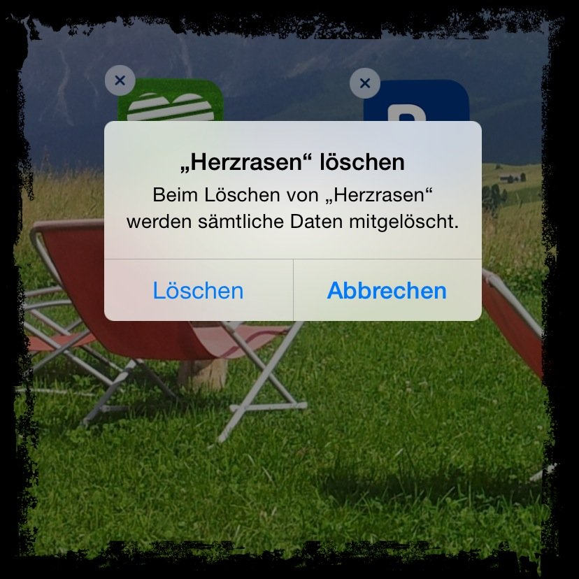 App löschen Backup iPhone Speicherplatz Symbol Icon wackeln 2