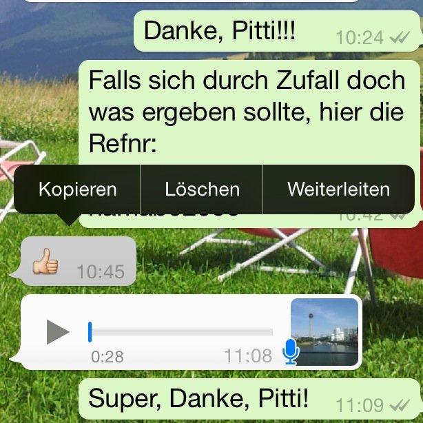 WhatsApp Sprachnachricht weiterleiten 1