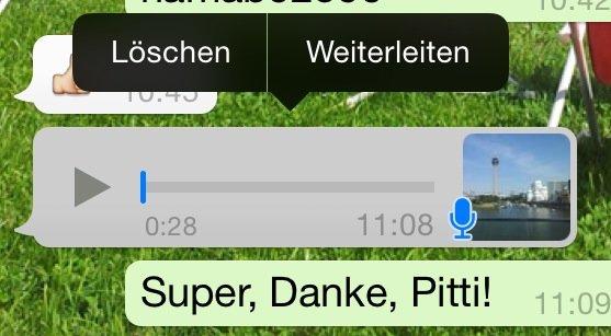 WhatsApp Sprachnachricht weiterleiten 2