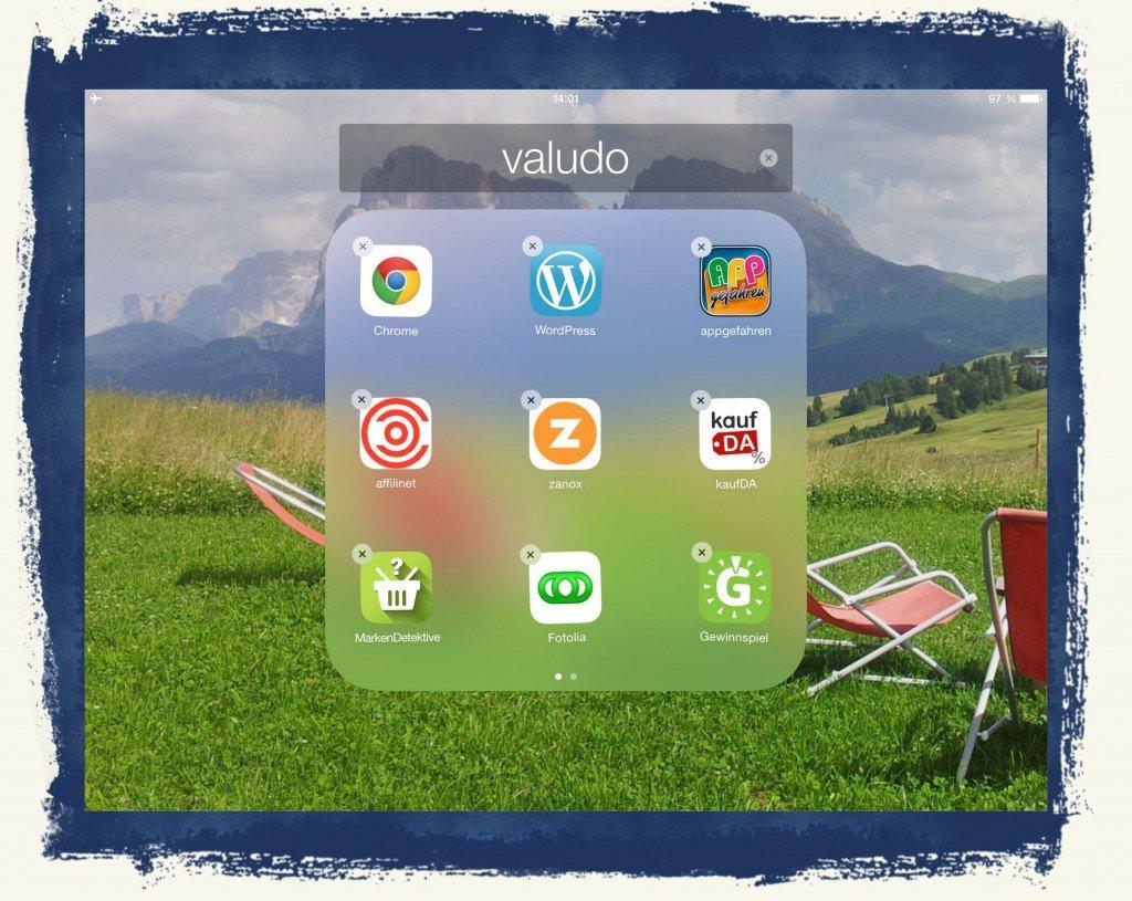 iPad Icon Symbole Gruppe zusammenfassen sortieren ordnen anordnen