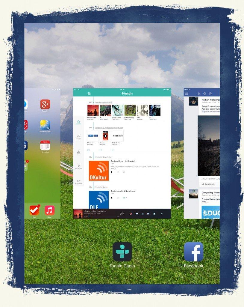 iPad Offene App Programme wechseln Homebutton Home-Button Vordergrund