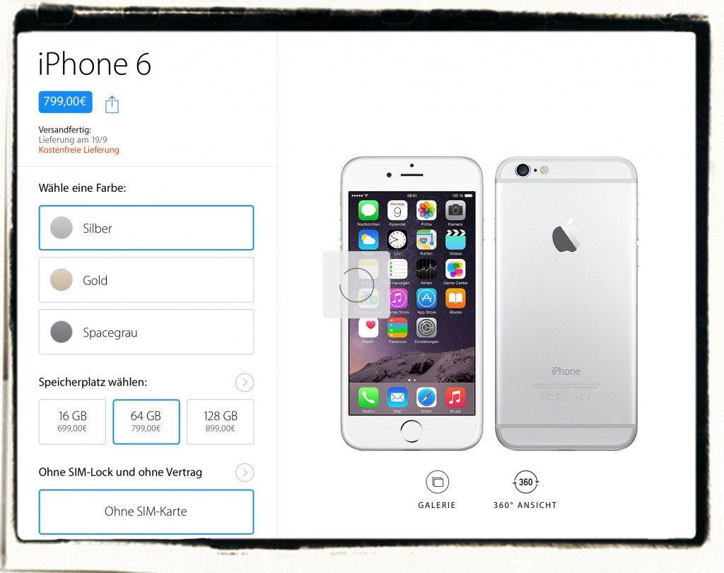 iPhne 6 bestellen AppStore Apple