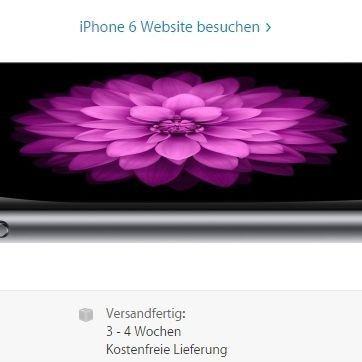 iPhone 6 Lieferzeit