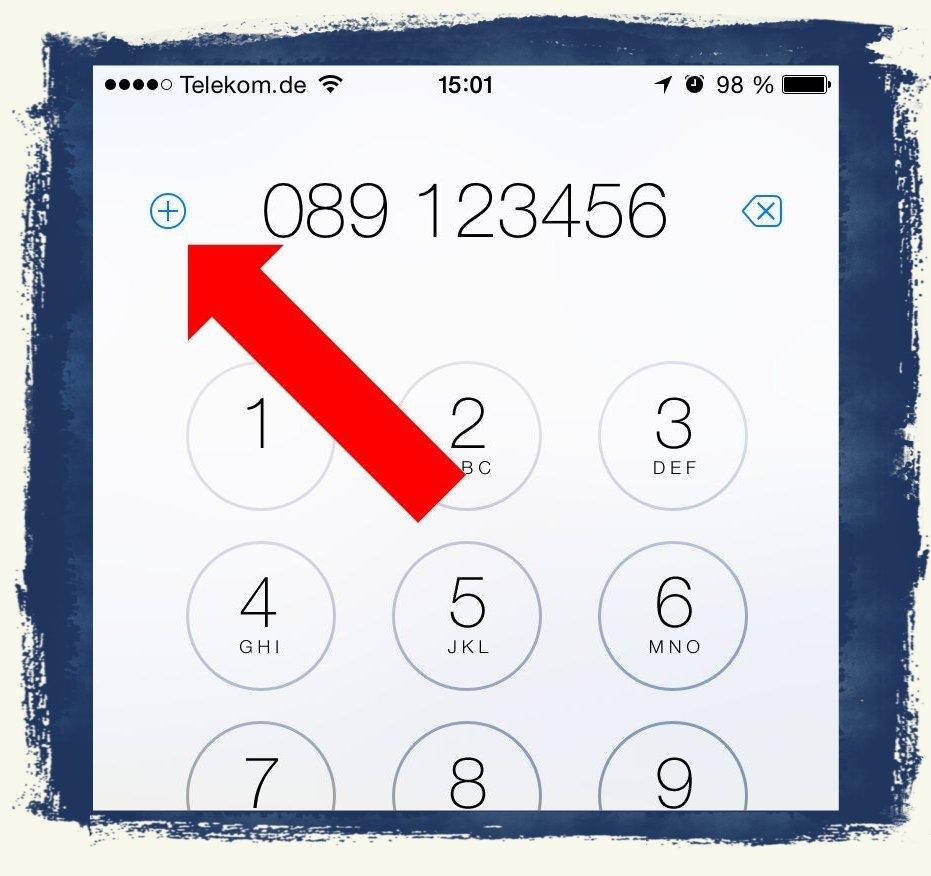 iPhone 6 Telefonbuch Kontakte anlegen speichern 1