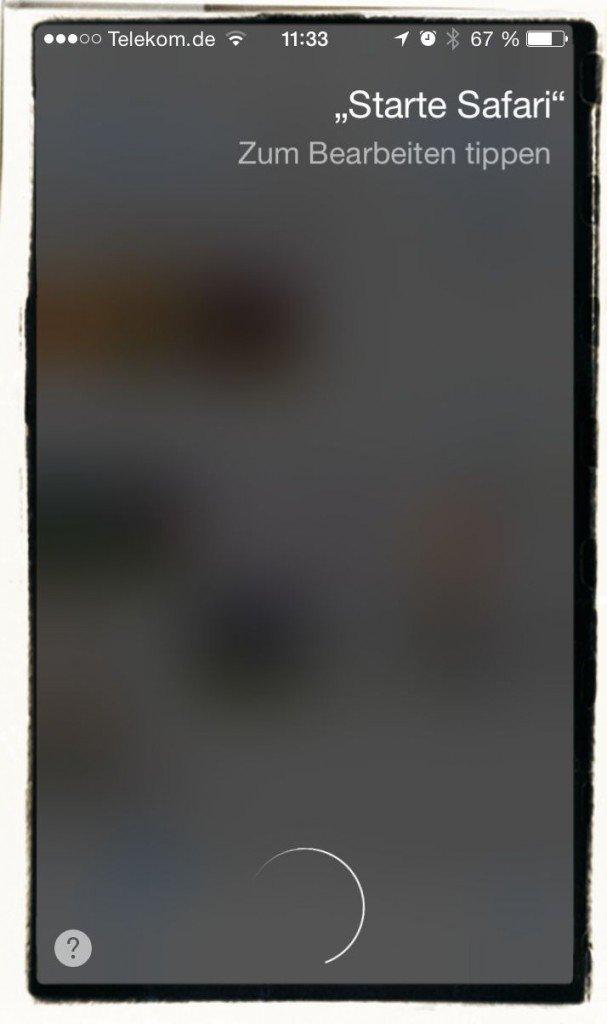 iPhone App starten Siri Kommando