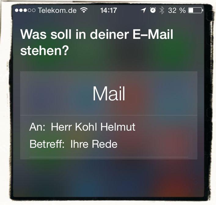 iPhone Mail schreiben Siri diktieren Kommandos 2