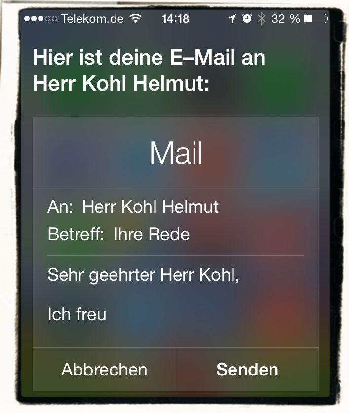 iPhone Mail schreiben Siri diktieren Kommandos 3