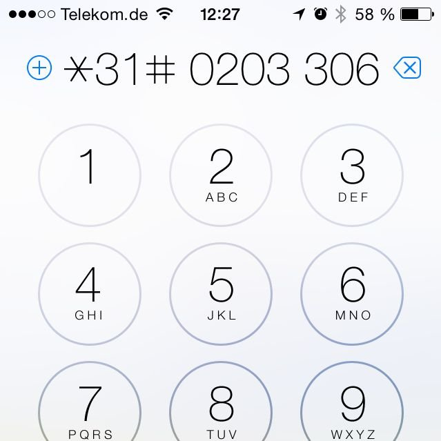 iPhone Rufnummer unterdrücken nächster Anruf fallweise CLIR Calling Line Identification Restriction 2