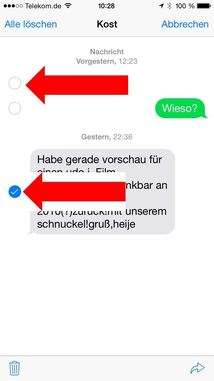 werden sms auf der sim karte gespeichert