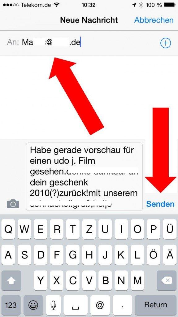 iPhone SMS Nachrichten weiterleiten PC speichern 2