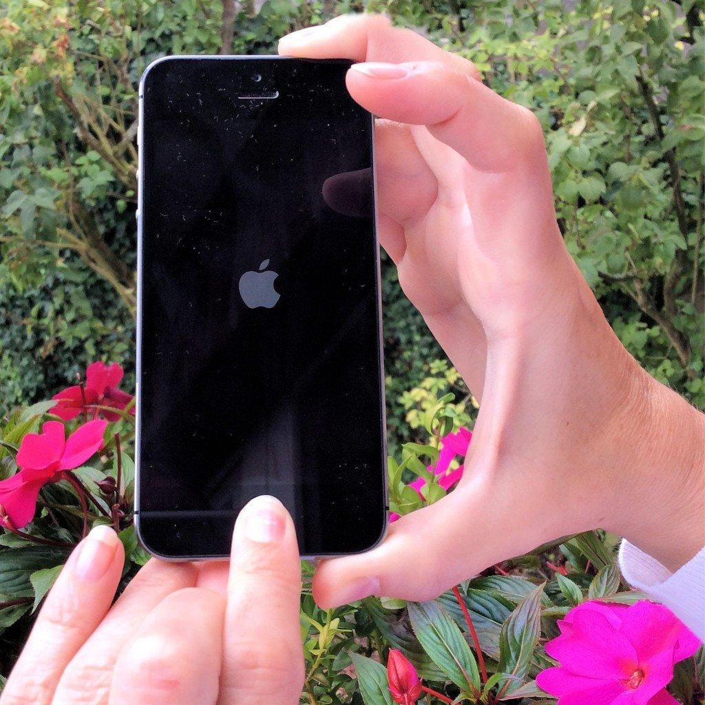 iPhone abgestürzt aufgehängt Hard Reset Bildschirm dunkel Apple Logo Apfel