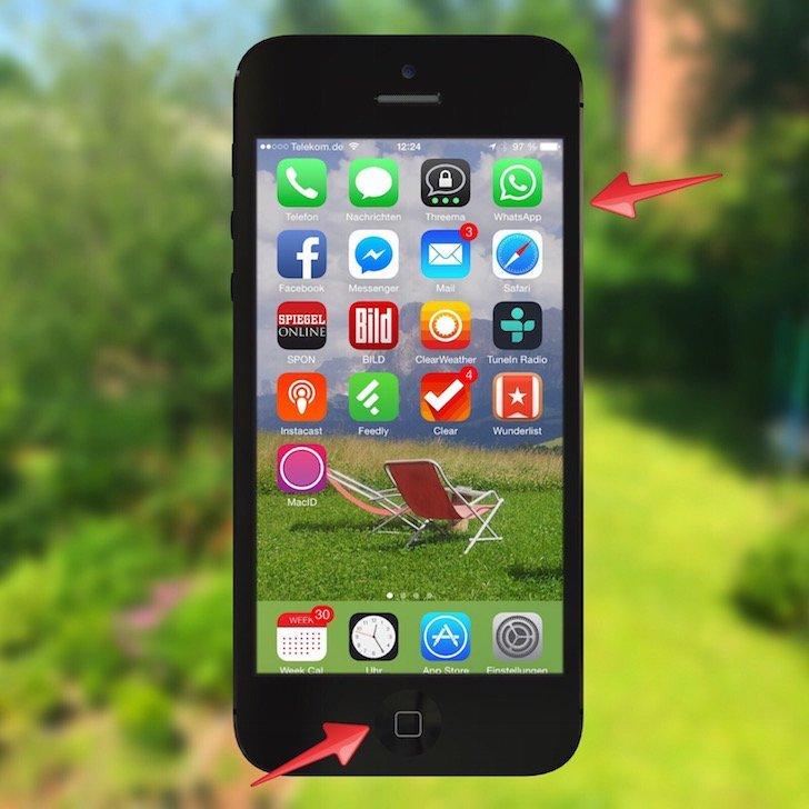 iPhone abgestürzt aufgehängt Hard Reset Bildschirm dunkel Apple Logo Apfel Handgriff 1