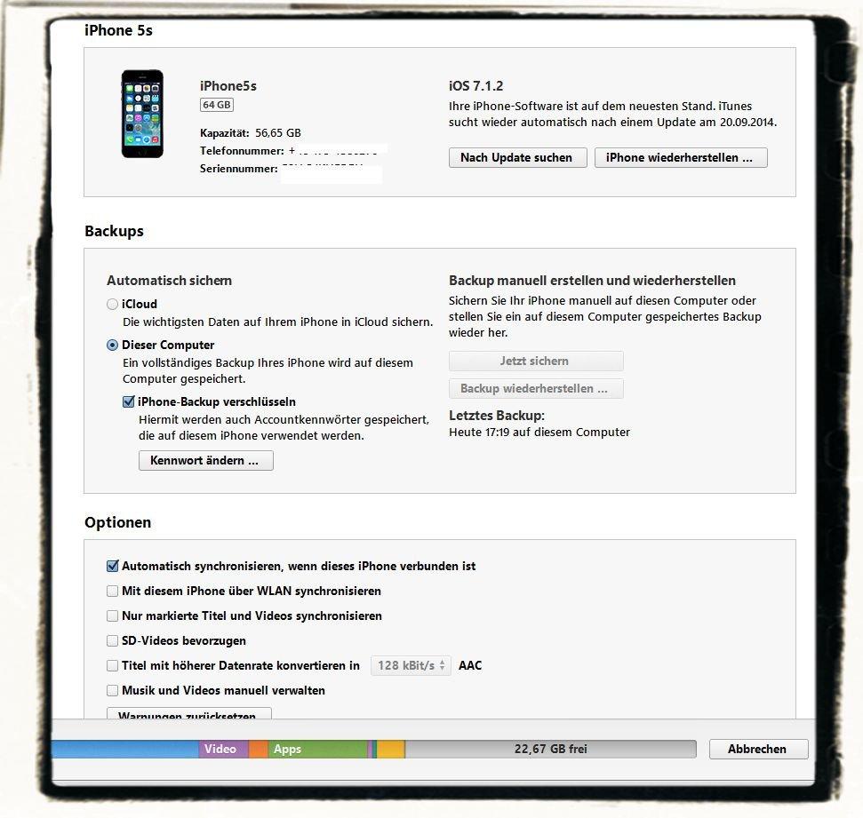 iPhone6 Backup Wiederherstellen Recovery Sicherheit Übernehmen