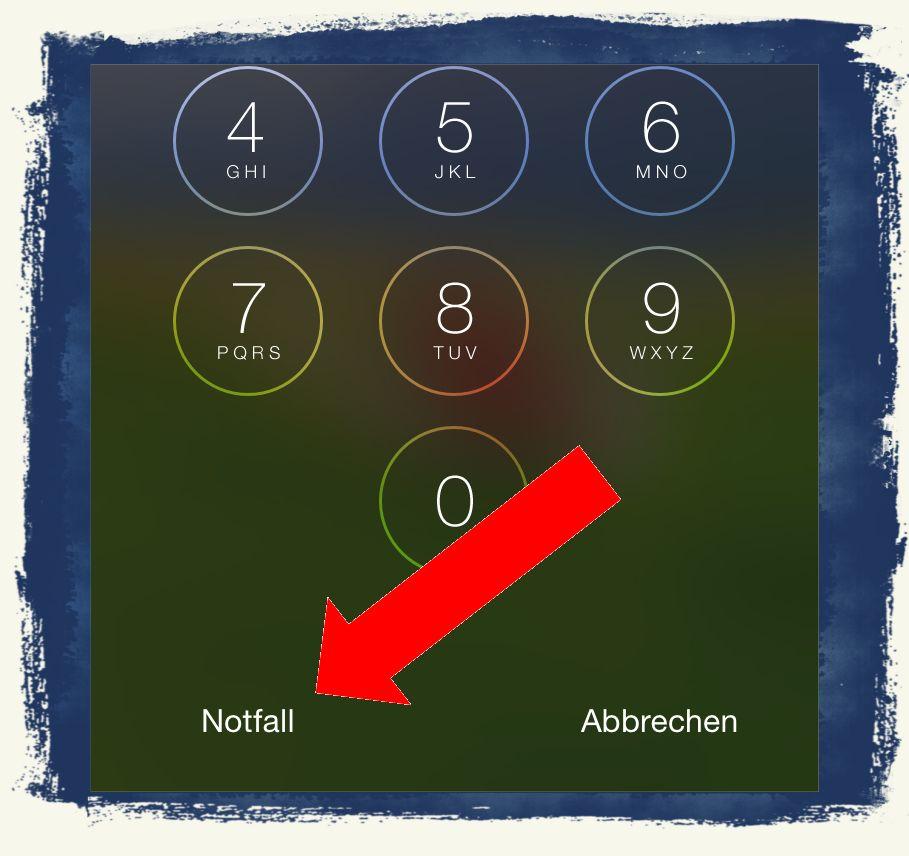 iPhone6,iPhone,6,Anleitung,Notfall,Notfallpass,Emergency,Call,Sperrbildschirm 3