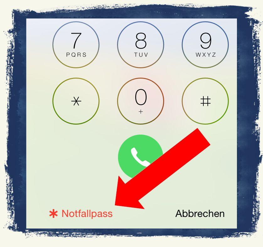 iPhone6,iPhone,6,Anleitung,Notfall,Notfallpass,Emergency,Call,Sperrbildschirm 4