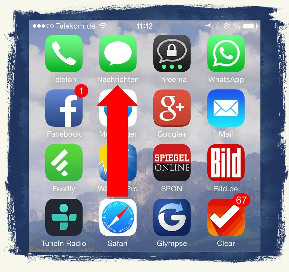 iPhone6,iPhone,6,Anleitung,SMS,iMessage,Nachrichten,versenden 1