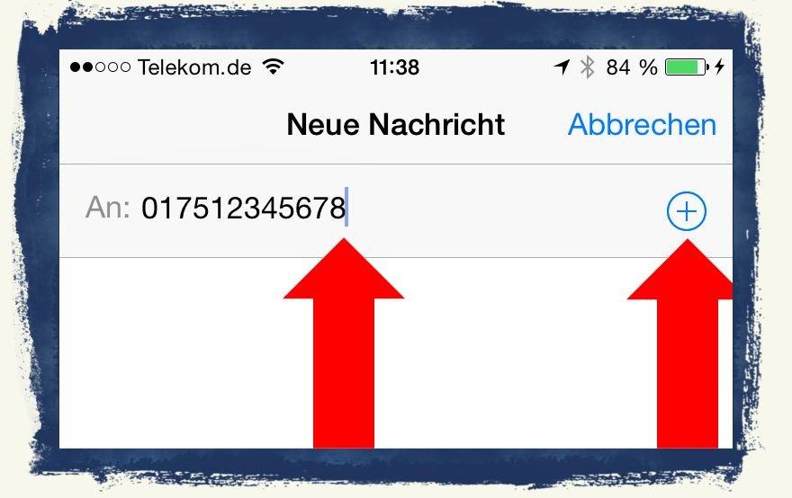 iPhone6,iPhone,6,Anleitung,SMS,iMessage,Nachrichten,versenden 3