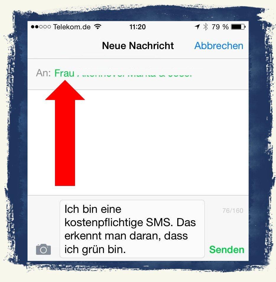 iPhone6,iPhone,6,Anleitung,SMS,iMessage,Nachrichten,versenden 4