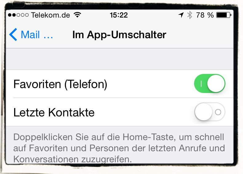 iPhone6,iPhone,6,Anleitung,Verlauf,Favoriten,Kontakte,Doppelklick,Homebutton 4