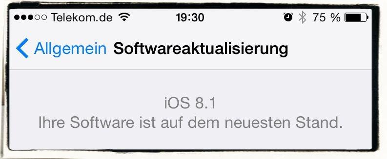 iOS 8.1 Update Laden und installieren 2