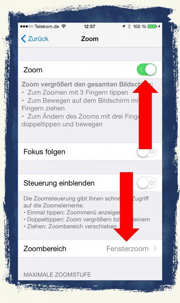 iOS8,Lupe,Zoom,Vergrößerung,iPhone6,Apple 2