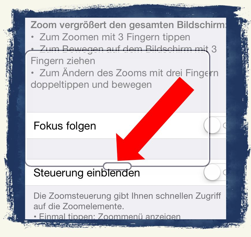 iOS8,Lupe,Zoom,Vergrößerung,iPhone6,Apple 3