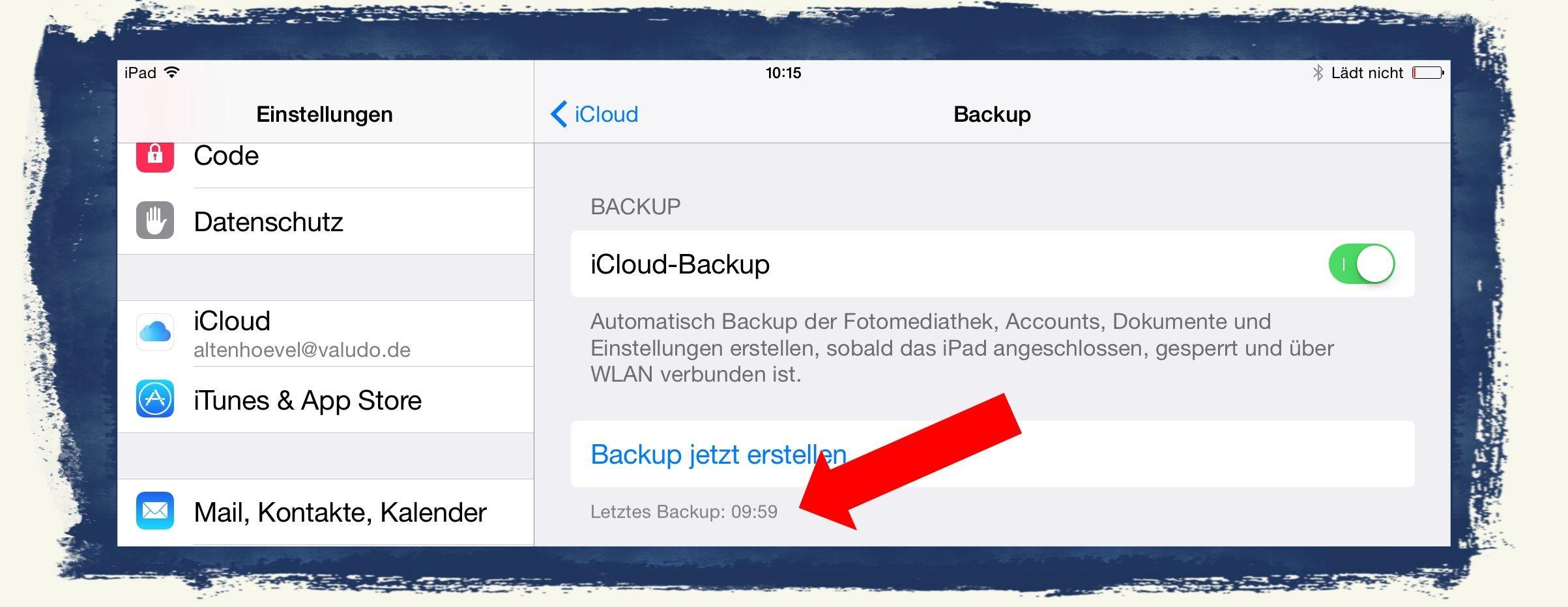 Brauchen Sie WiFi für iCloud Backup?
