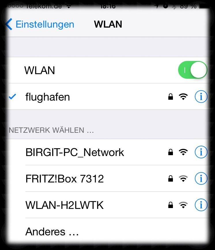 iPhone 6 Apple WLAN W-LAN Router Fritz FritzBox 3