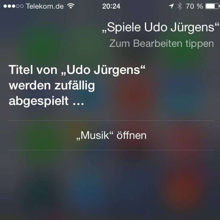 iPhone,6,Apple,Siri,Musik,Interpret,abspielen,Kommando 2