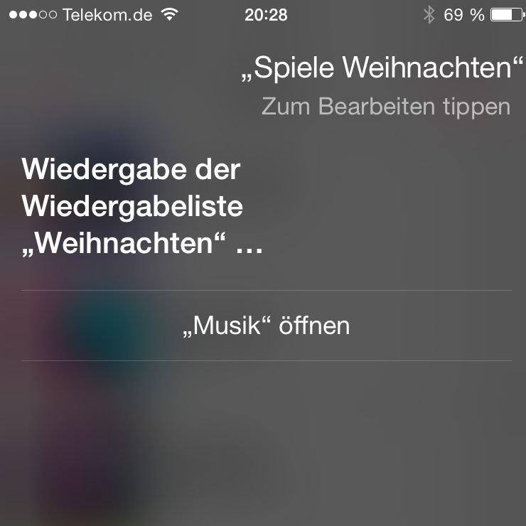 iPhone,6,Apple,Siri,Musik,Liste,abspielen,Kommando 3
