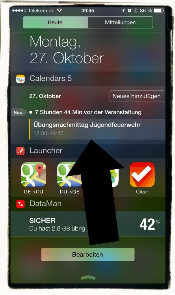 iPhone,Calendars 5,Calendars5,Readdle,Widget,Mitteilungszentrale,Update