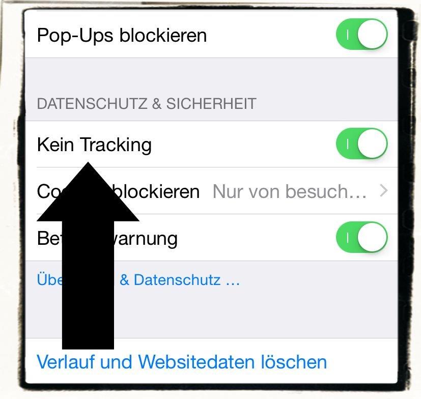 iPhone,Daten,Datenschutz,Einstellungen,Sicherheit,Überwachung,Safari,Tracking,Kein Tracking,Werbung,Ad 1
