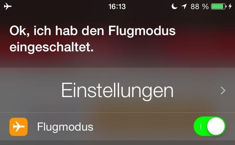 iPhone,Siri,Flugmodus,einschalten 2