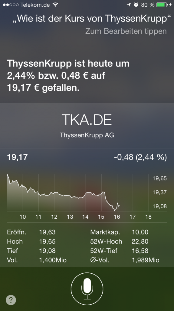 iPhone,Siri,Sprachsteuerung,Dax,Indizes,Dow Jones 1