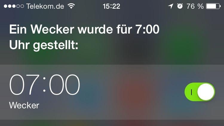 iPhone,Siri,Timer,Uhr,iOS8 2