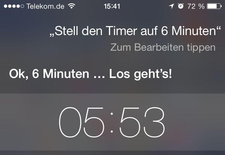 iPhone,Siri,Timer,Uhr,iOS8 4