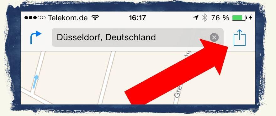 iPhone,Standort,Teilen,Treffpunkt,Mail,Nachrichten,SMS, 3