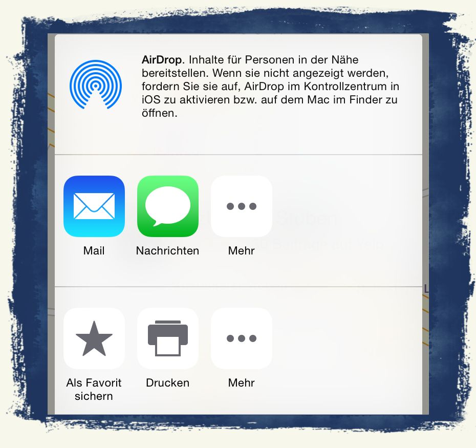 iPhone,Standort,Teilen,Treffpunkt,Mail,Nachrichten,SMS, 4