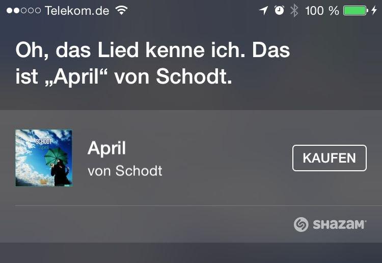 Siri,Musik,erkennen,Shazam,Musiktitel,Interpret,iTunes,kaufen 2