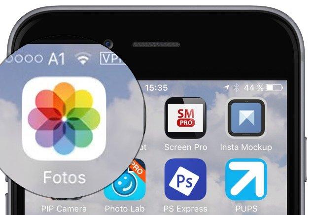 iPhone Foto vorher nachher Vergleich App bearbeiten aufhellen verstärken Farben speichern 1