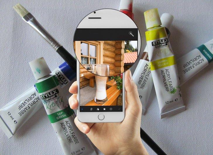 iPhone Foto vorher nachher Vergleich App bearbeiten aufhellen verstärken Farben speichern 5